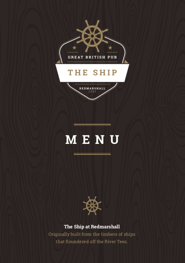 Spring Menu @ The Ship Redmarshall
